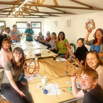 Willow weaving workshop - no plastic gardening